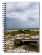 Ship Wrecked And Buried Spiral Notebook