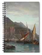 Shipping Off Gibraltar, 1880 Spiral Notebook