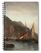 Shipping Off Gibraltar Spiral Notebook