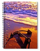 Ships Anchor On Beach Spiral Notebook