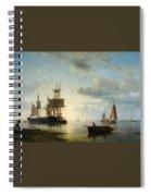 Ships At Dusk Spiral Notebook