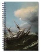 Ships In A Storm Spiral Notebook