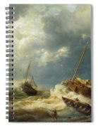 Ships In A Storm On The Dutch Coast Spiral Notebook