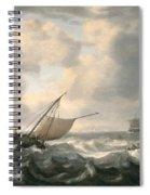 Ships On A Choppy Sea Spiral Notebook