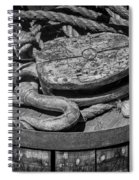 Ships Rope And Pully Spiral Notebook