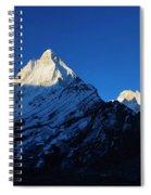Shivling And Meru, Uttarakhand, India Spiral Notebook