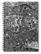Shoe Print In Concrete Spiral Notebook