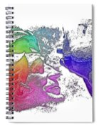 Shoot For The Sky Cool Rainbow 3 Dimensional Spiral Notebook