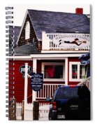 Shopping In Perkins Cove Maine Spiral Notebook