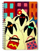 Shopping Sheep Divas Spiral Notebook
