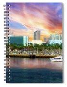 Shoreline Long Beach Ca 09 Spiral Notebook