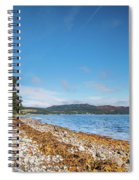 Shoreline On The Kyles Of Bute Spiral Notebook