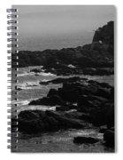 Shoreline - Portland, Maine Bw Spiral Notebook