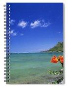 Shorline With Flower Spiral Notebook