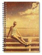 Shorncliffe Pier Pin Up Spiral Notebook