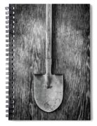 Short Handled Shovel On Plywood 72 In Bw Spiral Notebook