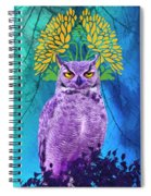 Owl At Night Spiral Notebook