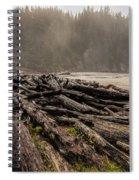 Short Sands Log Slash Spiral Notebook