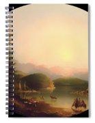 Shoshone Indians At A Mountain Lake Spiral Notebook