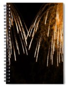 Shower Of Orange Colors Using Pyrotechnics Firework Spiral Notebook
