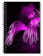 Showers Of Pink Color Splash With Firework  Spiral Notebook