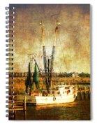 Shrimp Boat In Charleston Spiral Notebook