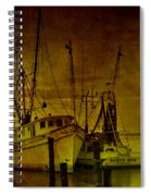 Shrimpboats In Apalachicola  Spiral Notebook