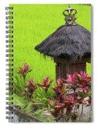 Shrine In Rice Field Spiral Notebook