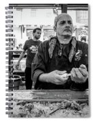 Shucking Oysters 2 - French Quarter- Bw Spiral Notebook