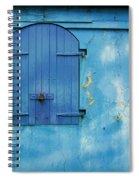 Shuttered Blue Spiral Notebook