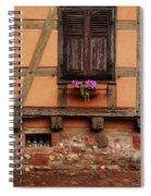 Shutters And Window Box In Kaysersberg Spiral Notebook