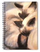 Siamese Lovers Spiral Notebook