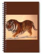 Siberian Snow Tiger Spiral Notebook