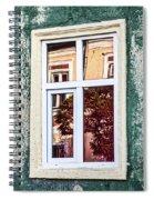 Sibiu Window Reflections - Romania Spiral Notebook