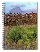 Sicilian Port With Old Anchors Spiral Notebook