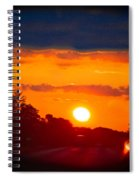Side Mirror Sunset Spiral Notebook