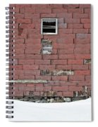 Side Of An Abandoned Old Barn Spiral Notebook