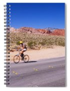 Side Profile Of A Person Cycling Spiral Notebook