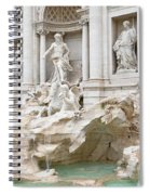 Side View Of The Trevi Fountain In Rome Spiral Notebook