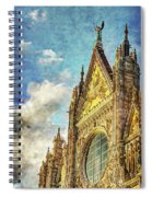 Siena Duomo Facade In The Sunset Spiral Notebook