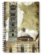 Siena Duomo Tower And Cupola Spiral Notebook