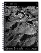Sierra Nevada's Planer Earth Bw Spiral Notebook