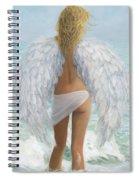 Siesta Key Beach Angel Spiral Notebook