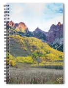 Sievers Peak And Golden Aspens Spiral Notebook