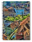 Sighisoara From Above Spiral Notebook