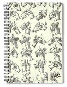 Sign Language Alphabet Spiral Notebook
