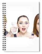 Sign Of Business Innovation And Business Success Spiral Notebook