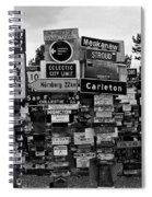Sign Post Forest Spiral Notebook
