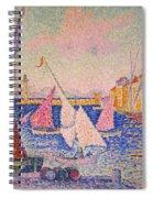 Signac: St. Tropez Harbor Spiral Notebook