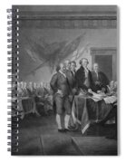 Signing The Declaration Of Independence Spiral Notebook